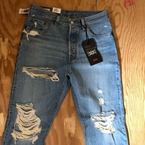 Levi's 501 straight NO STRETCH jeans from aritzia